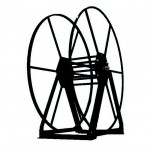 Vacuum Reel- Standard Height Single Capacity: 300 ft. Black