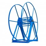 Vacuum Reel- Standard Height Single Capacity: 300 ft. Blue