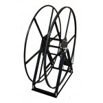 "Vacuum Reel- Extra Tall Single Capacity 450 ft. 2"" Hose Capacity Electric Rewind Black"