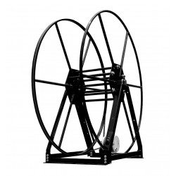 Vacuum Reel- Standard Height Single Capacity: 350 ft. Electric Rewind Black