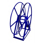"Vacuum Reel- Extra TallSingle Capacity 450 ft. 2"" Hose Capacity Electric Rewind Blue"