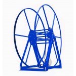 Vacuum Reel- Standard Height Single Capacity: 350 ft. Electric Rewind Blue