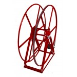 "Vacuum Reel- Extra Tall Single Capacity 450 ft. 2"" Hose Capacity Electric Rewind Red"
