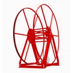 Vacuum Reel- Standard Height Single Capacity: 300 ft. Electric Rewind Red