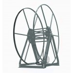 Vacuum Reel- Standard Height Single Capacity: 300 ft. Electric Rewind Silver