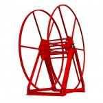 Vacuum Reel- Standard Height Single Capacity: 350 ft. Red