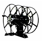 Dual NPSR300 Supply Reels, Mounted Horizontal: Black