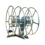 Dual NPSR300 Supply Reels, Mounted Horizontal: Silver
