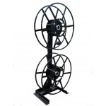 Dual NPSR300 Supply Reels, Mounted Vertical: Black