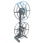 Dual NPSR400 Supply Reels, Mounted Vertical: Silver