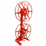 Dual NPSR300 Supply Reels, Mounted Vertical: Red