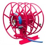 Dual NPSR300 Supply Reels, Mounted Horizontal: Red