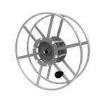 "Supply Reel- Narrow Profile: 300 ft of 1/4"" /  200 ft. of 3/8"": Silver"