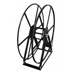 Vacuum Reel- Standard Height Single Capacity: 250 ft. Electric Rewind Black