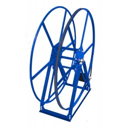 Vacuum Reel- Standard Height Single Capacity: 250 ft. Electric Rewind Blue
