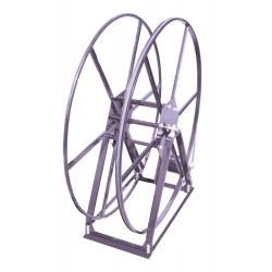 Vacuum Reel- Standard Height Single Capacity: 250 ft. Electric Rewind Silver