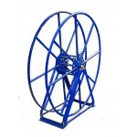"Vacuum Reel- Extra Tall Single Capacity 300 ft. 2"" Hose Capacity Blue"