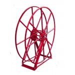 "Vacuum Reel- Extra Tall Single Capacity 300 ft. 2"" Hose Capacity Red"