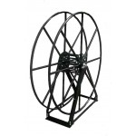 "Vacuum Reel- Extra Tall Single Capacity 300 ft. 2"" Hose Capacity Black"