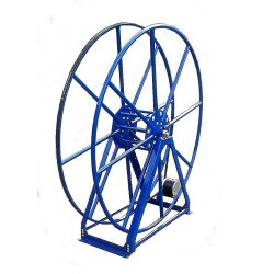 "Vacuum Reel- Extra Tall Single Capacity 300 ft. 2"" Hose Capacity Electric Rewind Blue"