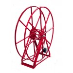 "Vacuum Reel- Extra Tall Single Capacity 300 ft. 2"" Hose Capacity Electric Rewind Red"