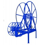 "Full Package for ""High- Roof"" Vans: Vac Reel Stand & Boom- Mount NPSR's, 450 ft. Capacity: Blue"