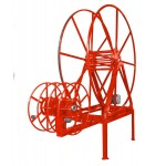 "Full Package for ""High- Roof"" Vans: Vac Reel Stand & Boom- Mount NPSR's, 450 ft. Capacity: Red"