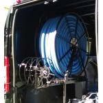 "Full Package for ""High- Roof"" Vans: Vac Reel Stand & Boom- Mount NPSR's, 450 ft. Capacity: Black"