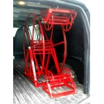 "Full ""Triangle"" Package for Chevrolet / GMC Cargo Vans: 250 ft, Capacity Reel Arrangement: Red"